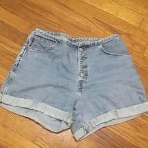 Vintage Button Fly Mom Shorts